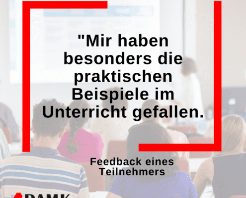 Online-Marketing-Lehrgang: Feedback 1